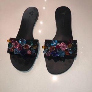 100% Authentic Giuseppe Blinda Crystals Sandals